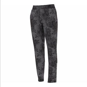 Adidas Woven Floral Pants Climalite Joggers